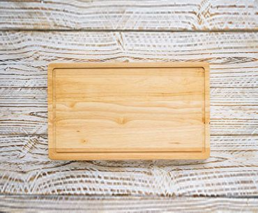 view of a cutting board