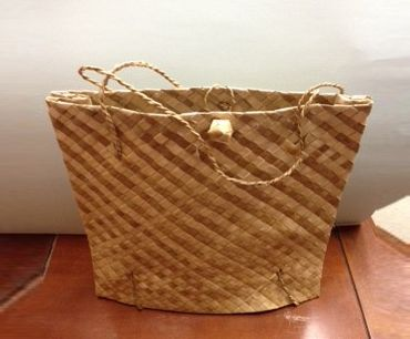 view of a bamboo bag